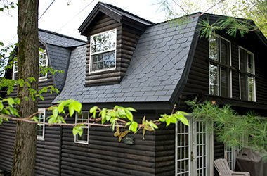 Roof on bungalow home