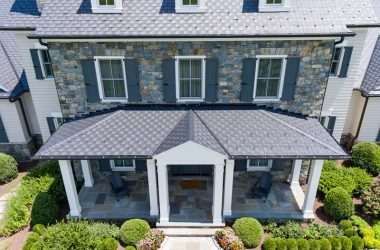 Roof on Colonial style home