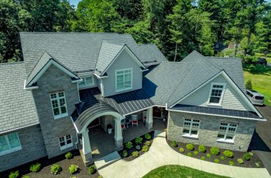 The visual effect of roof and home